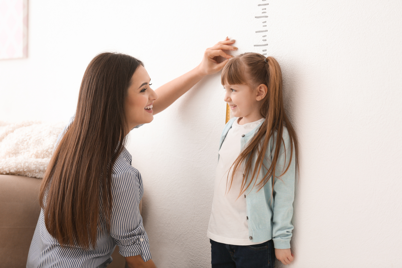 measuring height of child
